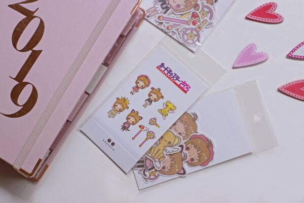 agenda 2019 8 stickers tematica sakura card captor