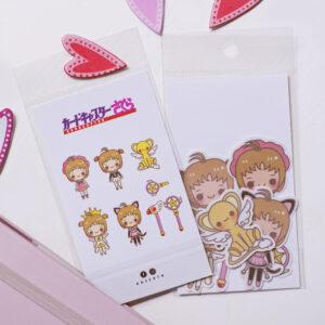8 stickers tematica sakura card captor