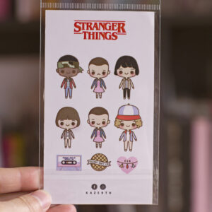set de 9 stickers tematica strager things