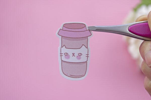 sticker coffee cat