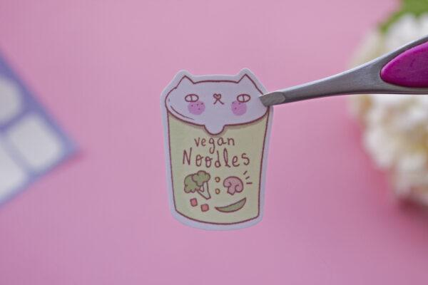 sticker vegan noodles