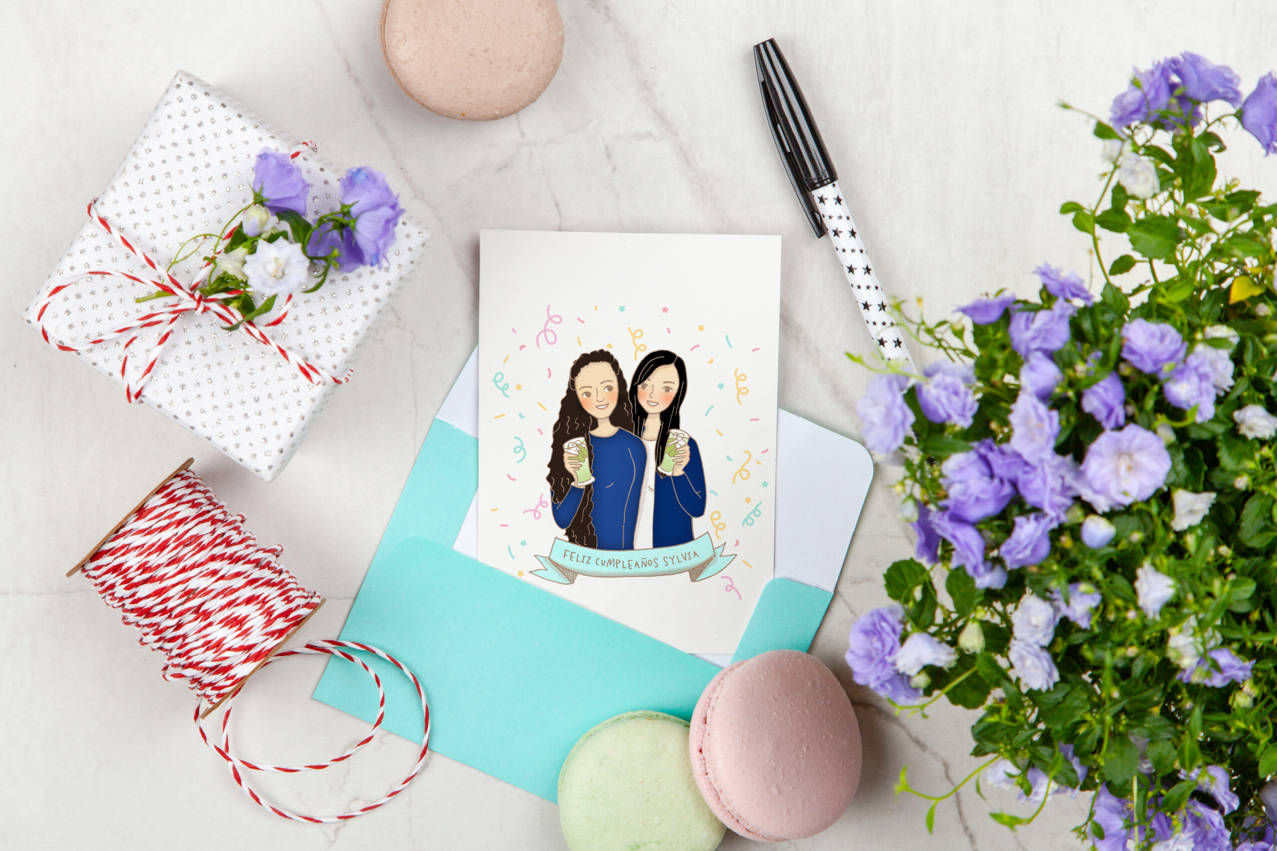 tarjeta de cumpleaños ilustracion